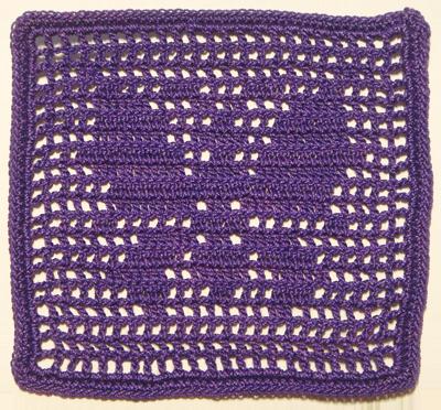 方型紫蝶杯墊